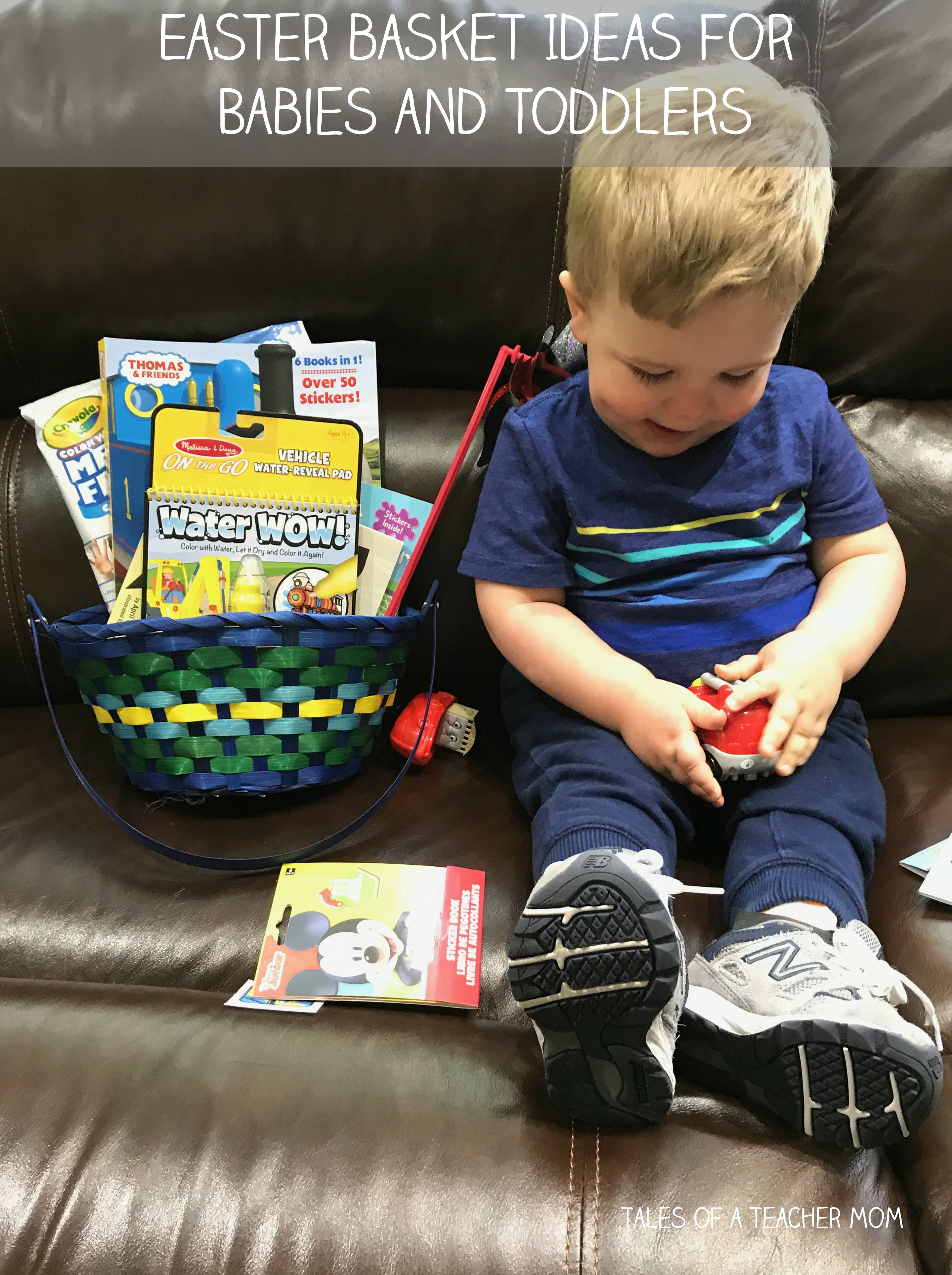Easter basket ideas for babies and toddlers tales of a teacher mom negle Choice Image